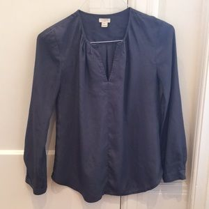 J.Crew Slate grey/blue blouse
